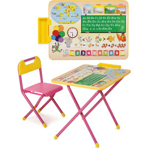 Набор мебели Дэми №1 (стол+стул) Глобус (роз) 000sn-84933