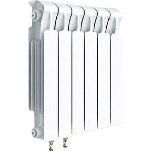 цена на Радиатор отопления RIFAR MONOLIT VENTIL 500 6 секций биметаллический нижнее левое подключение (RM50006 НЛ50)