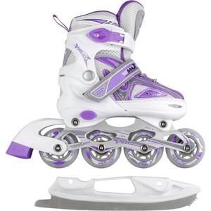 Набор подростковых коньков CK VOLT ICE MC - IS000110 - Фиолетовый (31 - 34)