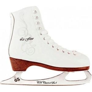 Фигурные коньки CK LE FLEUR leather 50/50 - IS000045 Белый (34)