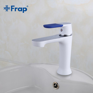 Смеситель для раковины Frap Н34 белый (F1034)