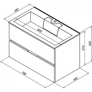 Раковина мебельная Aquanet Фортуна 80 (187094)