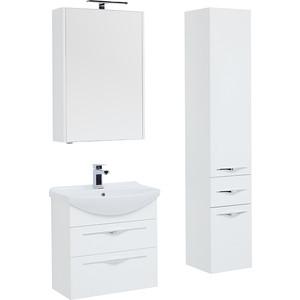 Мебель для ванной Aquanet Ирвин 75 белая цена в Москве и Питере
