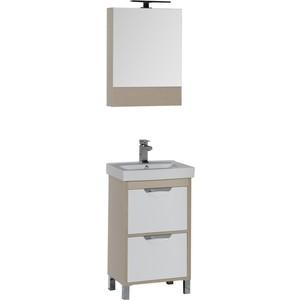 Мебель для ванной Aquanet Гретта 50 с 2 ящиками, светлый дуб