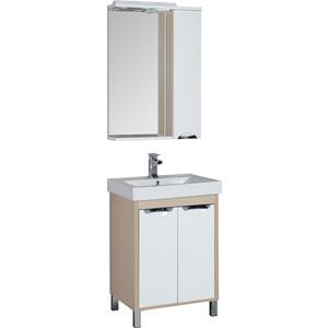 Мебель для ванной Aquanet Гретта 60 с дверками светлый дуб