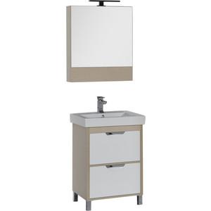 Мебель для ванной Aquanet Гретта 60 с 2 ящиками, светлый дуб