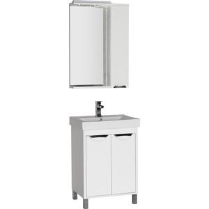 Мебель для ванной Aquanet Гретта 60 с дверками белая