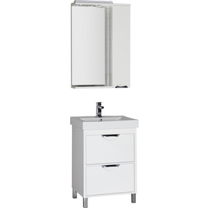 Мебель для ванной Aquanet Гретта 60 с 2 ящиками, белая