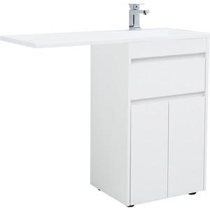 Мебель для ванной Aquanet Токио 110 напольная, правая, белая цена