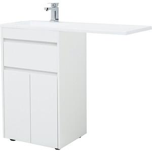 Тумба под раковину Aquanet Токио 48 (110) белая, для стиральной машины (237744)