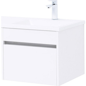цены Мебель для ванной Aquanet Токио 110 подвесная, правая, белая