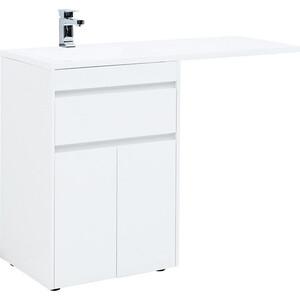 Тумба под раковину Aquanet Токио 68 (130) белая, для стиральной машины (237746) фото