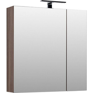 Зеркальный шкаф Aquanet Нью-Йорк 85 орех (203954)