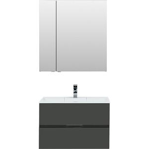 Мебель для ванной Aquanet Алвита 80 серый антрацит комплект мебели aquanet алвита 184578