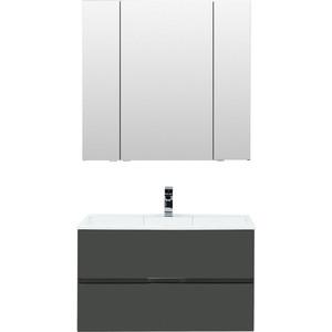 Мебель для ванной Aquanet Алвита 90 серый антрацит комплект мебели aquanet алвита 184578