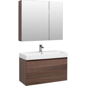 Мебель для ванной Aquanet Нью-Йорк 100 орех