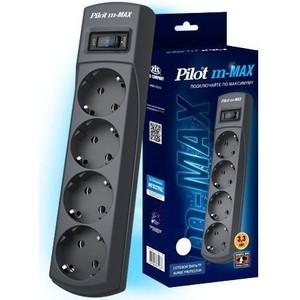Сетевой фильтр Pilot m-MAX 1.8м (4 розетки) серый