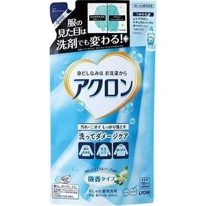 Жидкое средство Lion Acron Арома мыло для стирки деликатных тканей, запасной блок 400 мл