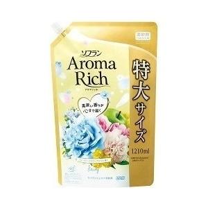 Кондиционер для белья Lion Aroma Rich Fairy с ароматом ландыша и фруктов, мягкая упаковка 1210 мл