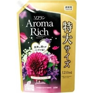 Кондиционер для белья Lion Aroma Rich Juliette с ароматом ванили и жасмина, мягкая упаковка 1210 мл