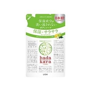 Гель для душа Lion Hadakara Увлажнение и шелковистость кожи, запасной блок 360 мл