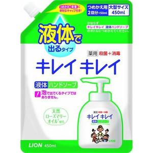 Жидкое мыло Lion Kirei с ароматом цитруса, запасной блок 450 мл
