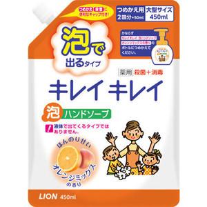 Пенное мыло Lion Kirei с ароматом апельсина, запасной блок 450 мл