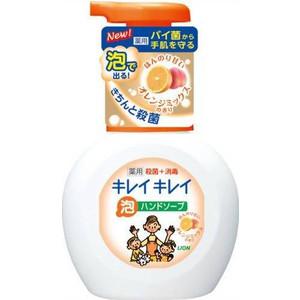 Пенное мыло Lion Kirei с ароматом апельсина, флакон-дозатор 250 мл