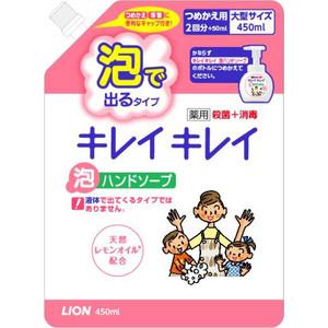 Пенное мыло Lion Kirei с ароматом цитрусовых фруктов, запасной блок 450 мл