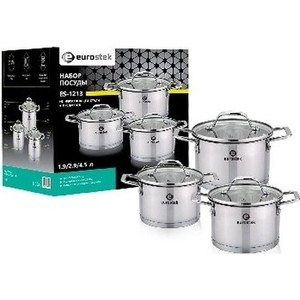 Набор посуды 6 предметов Eurostek (ES-1213)