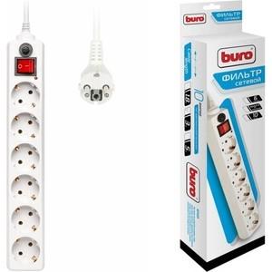 Фото - Сетевой фильтр Buro 600SH-3-W 3м (6 розеток) белый сетевой фильтр buro 500sh 3 sw b 3м 5 розеток черный