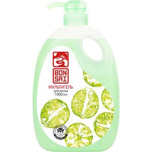 Средство для мытья посуды и фруктов BONSAI мультигель с ароматом свежего лайма, концентрат 1 л