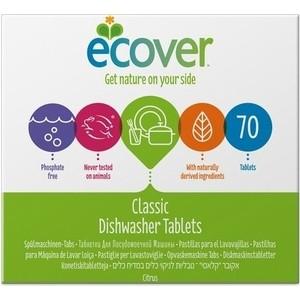 Таблетки для посудомоечной машины (ПММ) ECOVER Эковер экологичные 70 шт 1,4 кг