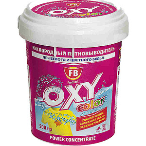 Пятновыводитель FeedBack Oxy color кислородный для цветного и белого белья 500 г
