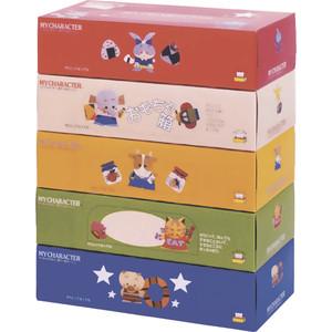 Салфетки бумажные IDESHIGYO Игры-Самоделки 2 слоя 150 шт, 1 коробка, цвет в ассортименте