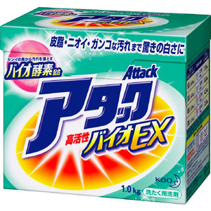 Стиральный порошок Kao Attack BioEX универсальный, концентрат 1 кг стиральный порошок kao attack bioex универсальный концентрат 1 кг