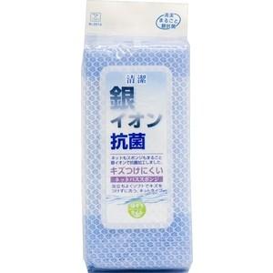 Фото - Губка Kokubo антибактериальная для ванной с ионами серебра в сеточке, 240х95х55 мм салонный фильтр js ac0213bset k антибактериальная система очистки воздуха в салоне автомобиля jso2clean