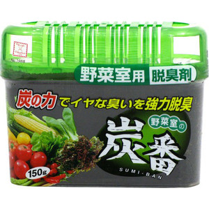 Дезодорант-поглотитель неприятных запахов Kokubo с древесным углем, для холодильника (овощная камера) 150 г