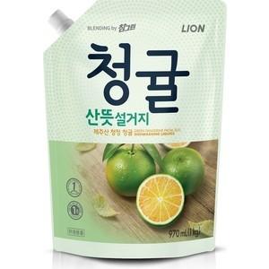 Средство для мытья детской посуды Lion Chamgreen Зеленый цитрус, концентрат, мягкая упаковка 970 мл