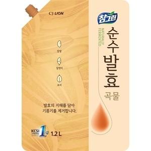 Средство для мытья посуды и фруктов Lion CHAMGREEN Pure Fermentation 5 злаков, мягкая упаковка 1,2 л
