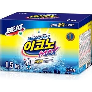 Стиральный порошок Lion BEAT Econo Max универсальный, концентрат, для стирки в холодной воде 1,5 кг, 30 стирок