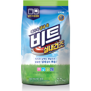 Стиральный порошок Lion BEAT IN DOOR универсальный, концентрат, сушка в помещениях, мягкая упаковка, 2,7 кг