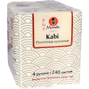 купить Полотенца бумажные MANEKI Sumi-e для кухни белые 4 рулона по цене 289 рублей