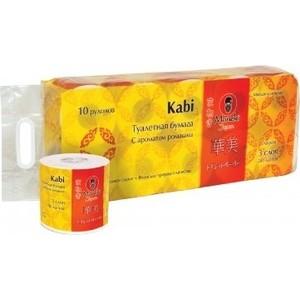 Туалетная бумага MANEKI Kabi белая с ароматом ромашки 3 слоя 10 рулонов фуджиеда сеиши туалетная бумага двухслойная с ароматом зелёного яблока 30м 12 рулонов