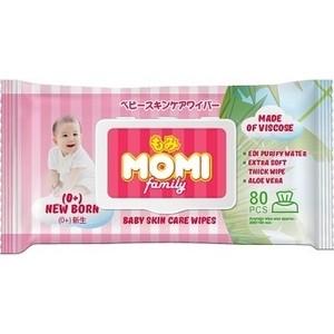 Влажные салфетки Momi Family детские 80 шт (200х150 мм)
