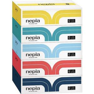 Салфетки бумажные NEPIA Premium Soft 2 слоя 180 шт 1 коробка, цвет в ассортименте
