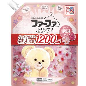 Кондиционер Nissan FaFa Trip Nara для детского белья с ароматом сакуры, мягкая упаковка 1,2 л