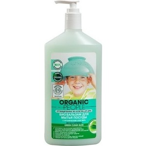 Бальзам для мытья посуды Organic People Green clean aloe био 500 мл