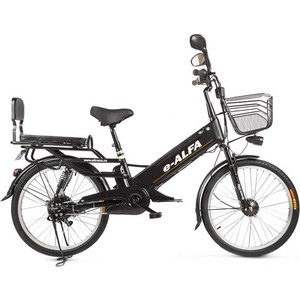 Велогибрид Eltreco e-ALFA GL matt black - 010824-0333