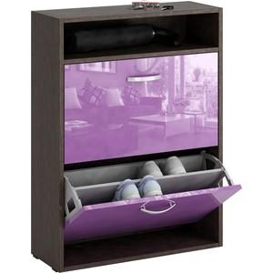 Обувница Мастер Милан-25 глянец (венге - фиолетовый) МСТ-ОДМ-25-ВФ-ГЛ стоимость